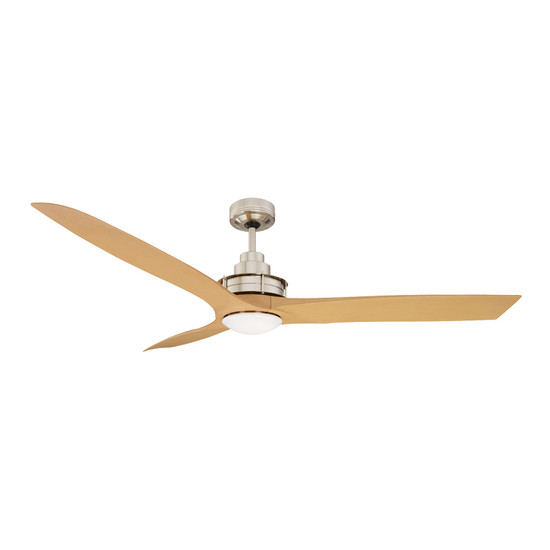 downrod indoor with accents kit lights light ceiling fan dp brushed bronze natural fans nickel satin led mount