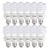 DISCOUNT PACK OF 12 Philips Tornado 20w E27 Spiral CFL 2700K Warm White