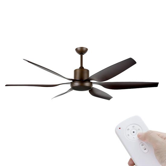 Brilliant aviator dc motor 167cm rubbed bronze remote ceiling fan image 1 aloadofball Choice Image