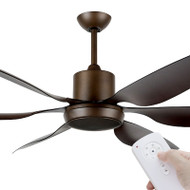 Brilliant Aviator DC Motor 167cm Rubbed Bronze & Remote Ceiling Fan