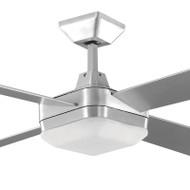 Martec Quadrant 130cm Silver Timber Ceiling Fan & Light