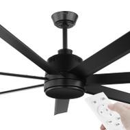Eglo Tourbillion DC Motor 152cm Black & Remote Ceiling Fan