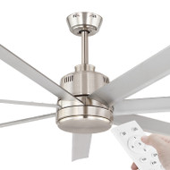 Eglo Tourbillion DC Motor 203cm Silver & Remote Ceiling Fan