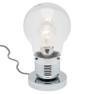 Mercator Edison Chrome/Clear Bulb Style Table Lamp
