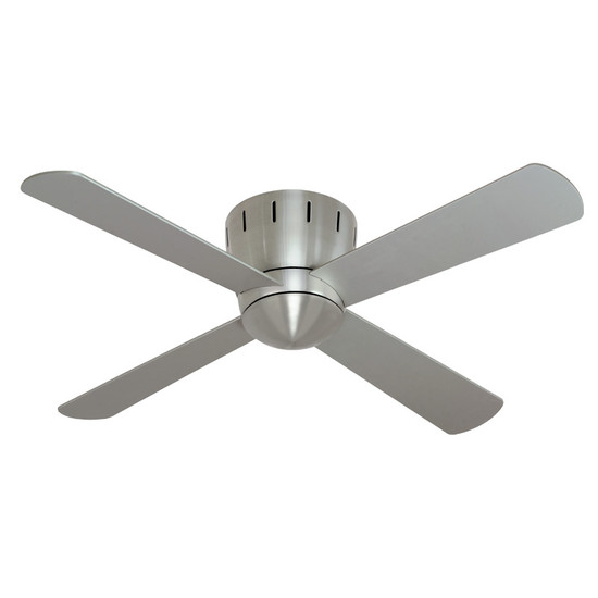 Mercator seville 120cm nickel low profile timber ceiling fan image 1 aloadofball Choice Image