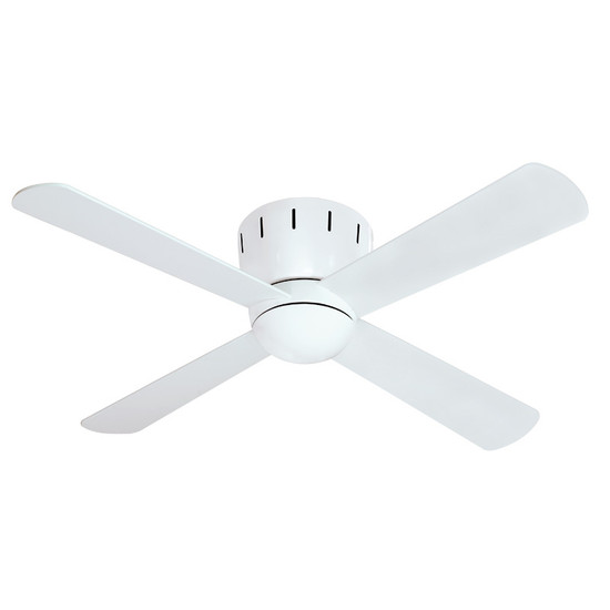Mercator seville 120cm white low profile timber ceiling fan image 1 aloadofball Image collections