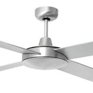 Brilliant Tempest 130cm Silver Timber Ceiling Fan
