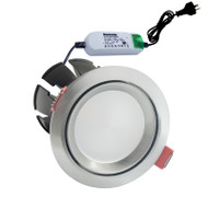 Envirostar Rotary 12w 3000K LED Down Light Round Nickel
