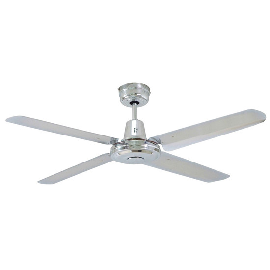 Mercator swift 120cm polished chrome metal ceiling fan galaxy lighting image 1 mozeypictures Gallery