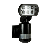 Brilliant Nightwatcher 8w 4200K LED Flood & Tracking Sensor Black