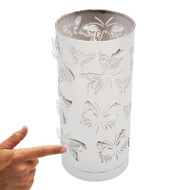 Mercator Butterfly Touch Lamp Chrome