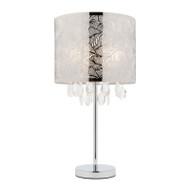 Mercator Ciara Pattern Table Lamp Chrome