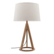 Mercator Bobbie Timber Table Lamp