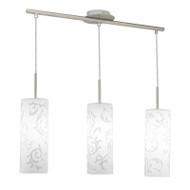 Eglo Amadora 3lt White Glass Hanging Pendant