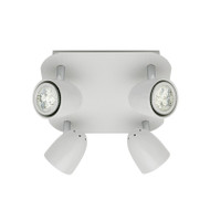 Mercator Villa 4lt Square GU10 LED Spotlight White