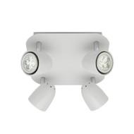 Mercator Villa 4lt Square GU10 LED Spotlight White