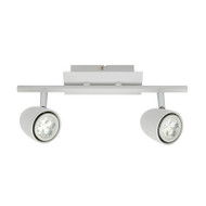 Mercator Villa 2lt GU10 LED Spotlight White