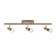 Mercator Pronto 3lt GU10 LED Spotlight Antique Brass