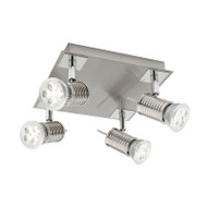 Cougar Aquila 4lt Square GU10 LED Spotlight Brushed Chrome