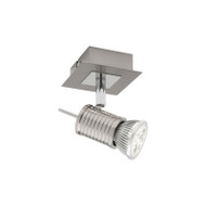 Cougar Aquila 1lt GU10 LED Spotlight Brushed Chrome