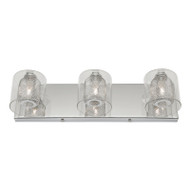 Mercator Roseanne 3lt Chrome & Glass Wall Light