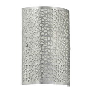 Eglo Almera Brushed Metal Pattern Wall Light