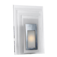 Telbix Elsa Frost Glass LED Wall Light Rectangle
