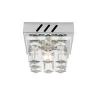 Mercator Jasmine 1lt Chrome & Glass Wall Light