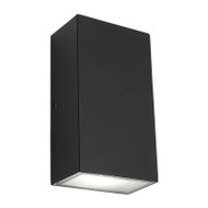 Mercator Brenton Square LED Exterior Up/Down Wall Light Black
