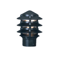 Mercator Pagoda Louvre Garden Post Top Only Black