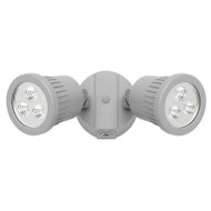 Mercator Ritz 2 X 9w LED Exterior Spotlight Silver