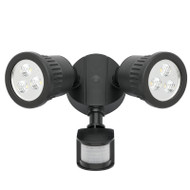 Mercator Ritz 2 X 9w LED Exterior Spotlight & Sensor Black