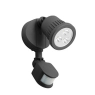 Mercator Ritz 1 X 9w LED Exterior Spotlight & Sensor Black