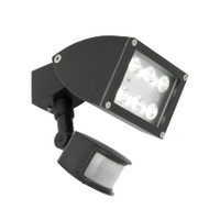 Mercator Zone 1 X 12w LED Exterior Spotlight & Sensor Black