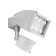 Mercator Zone 1 X 12w LED Exterior Spotlight & Sensor Silver