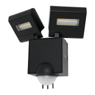 Mercator Cheetah 2 X 11w LED Exterior Spotlight & Sensor Black