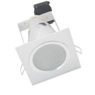 Telbix Midas Aluminium Compact Fluoro Down Light Square