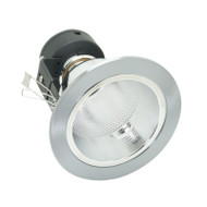 LCO Large Round Brushed Chrome Compact Fluoro Down Light