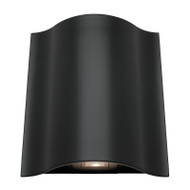 Mercator Arch Curved LED Exterior Up/Down Wall Light Black