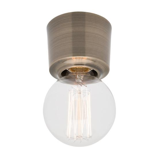 Mercator Biba Diy Ceiling Batten Fix Light Antique Brass
