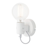 Mercator Bronte Simple Wall Light Matt White