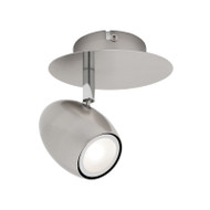Mercator Monica 1lt GU10 LED Spotlight Brushed Chrome