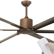 Brilliant Maelstrom DC Motor 214cm Rubbed Bronze & Remote Ceiling Fan