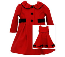 Bonnie Jean Christmas Red Coat Girls Dress