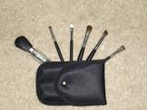 6 piece Goat Hair Travel brush set