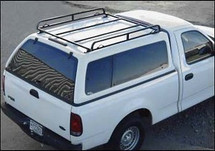 Short bed canopy rack on camper shell