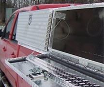 Slant Front Topsider Diamond Plate Aluminum Truck Tool Box