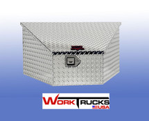 Slant lid designed to allow your trailer crank to clear the box
