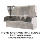 Sliding storage tray for small parts/tools