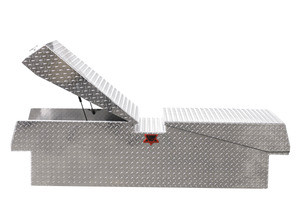 Extra Heavy Duty Gull Wing Diamond Plate Truck Toolbox - WorkTrucksUSA
